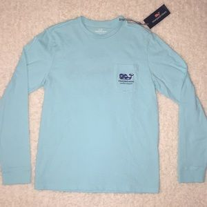 Blue and Navy Vineyard Vines Long Sleeve